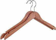 QPG (10 Stück) Holz Kleiderbügel,