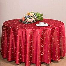 QPG Hotel Tischtücher Runder Tisch Gastronomie Restaurant Restaurant Couchtisch Tuch Benutzerdefinierte Euro Tisch Platz Tisch ( Farbe : Rot , größe : Diameter 180cm )