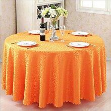 QPG Hotel Tischtücher Runder Tisch Gastronomie Restaurant Restaurant Couchtisch Tuch Benutzerdefinierte Euro Tisch Platz Tisch ( Farbe : Orange , größe : Diameter 260cm )