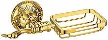 QPLA@Bad-Accessoires Bronze und Legierung Quadrat gold Seifenschale