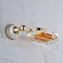 QPLA@Europäische moderne Gold-Kupfer-Zink-Legierung Porzellan SOAP dish Bad-Accessoires , Golden