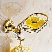QPLA@Europäischen Kupfer antik gold Seife Teller Bad-Accessoires , golden