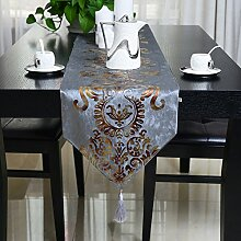 QPLA Mode Küche Zuhause Essen speisender Tabellen-Läufer/Tischläufer,meters white runner 2 meters