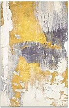 QPOWY Retro Wandfarbe Abstrakte Wandkunst Leinwand