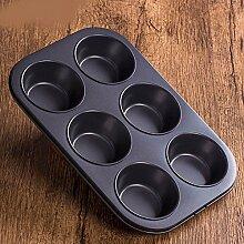 QPSSP Auch Kleine Kuchenform Schimmel 6 Becher Backen Cup - Schimmel Ei Torte Dampf Ofen Haushalt Nicht Behaftende Backen Werkzeuge,Ein
