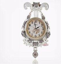 QPSSP Europäischen Stil Wohnzimmer Der Wanduhr Antike Uhr Stillen Engel Uhr Swing Kreative Dekorative Garten Sehen,B