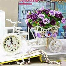QPSSP Kleines Auto - Zubehör Inneneinrichtungsgegenstände Uhr - Blume Dekorative Blume Blumen Eingetopft Blume Pflanzen Im Wohn - Und Schlafzimmer Eingerichtet - Simulation,Ein