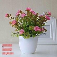 QQ-AILHP Künstliche Blumen Pflanzen Topfpflanzen Dekoration Narzissen Pink 25Cm