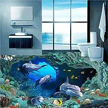 Qqasd 3D Delphin Unterwasser Para Volle Wandbild