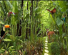 Qqasd 3D Wallpaper Grüner tropischer Regenwald