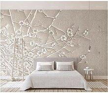 Qqasd Moderne kurze 3d tapete für wohnzimmer