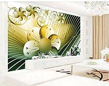 Qqasd Tapete 3d Abstrakte Blumentapeten für