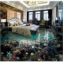 Qqasd Tapete 3d bodenbelag Unterwasserwelt