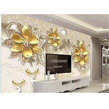 Qqasd Tapete für Wände anpassen 3d Jewel Blumen