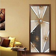QQFENG 3D Abstrakte Moderne Geometrische Tür