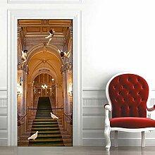 QQFENG Engel Gebäude Tür Aufkleber Für