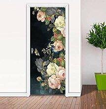 QQFENG Europäische Rose Tür Aufkleber Für
