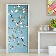 QQFENG Flower Bird Mural Wasserdicht