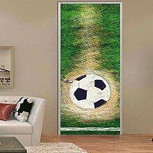 QQFENG Fußball Ziel Kreative Tür Aufkleber Für