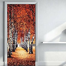 QQFENG Kreative 3D Schöne Landschaft Tür