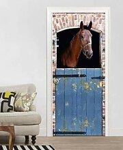 QQFENG Kreative Tür Aufkleber Pferd Für