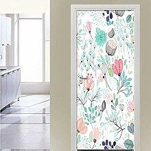 QQFENG Schöne Blumen Tür Aufkleber Für