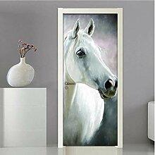 QQFENG Tierpferd Kreative DIY Selbstklebende Tür