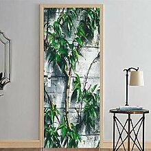 QQFENG Tür Dekor Baum Kreative Aufkleber