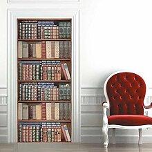 QQFENG Tür Wand Bücherregal Bücherregal