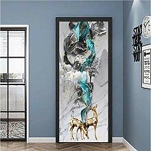 QQFENG Tür Wandbild Türaufkleber Selbstklebende