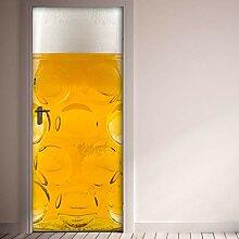 QQFENG Türtapete Wandbilder Abnehmbare Wand Glas
