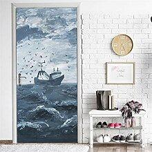 QQFENG Türtapete Wandbilder Abnehmbares