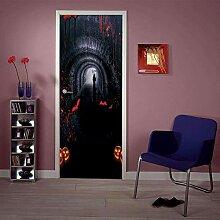 QQFENG Türtapete Wandbilder Halloween Wohnzimmer