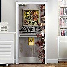 QQFENG Türtapete Wandbilder Horror Zombie Hand