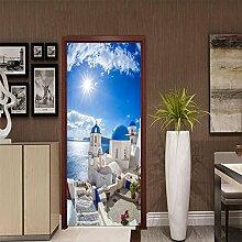 QQFENG Türtapete Wandbilder Wohnzimmer Und