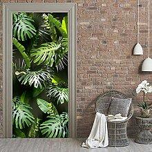 QQFENG Türwand Modern Tropical Leaf Wandtür