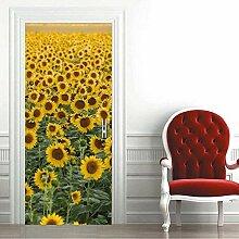 QQFENG Türwand Sonnenblumen Türaufkleber DIY