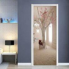 QQFENG Wandbild DIY Aufkleber Kreative PVC Pflaume