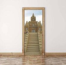 QQFENG Wandbild DIY Sand Castle Decals Kreative