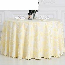 QQT Europäische Tischdecke,Große Runde Tuch