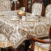 QQT Europäische Tischdecke,Kissen Und Bezüge