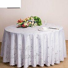 QQT Runde Tischdecke Für Hotels,Tabelle Tuch