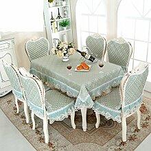 QQT Tischdecke Dining Chair Decken,Kissen Stuhl