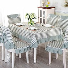 QQT Tischdecken Stuhlhussen Kissen,Esszimmerstuhl