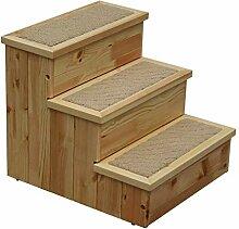 QQXX Pet Stairs Multifunktions Massivholzrahmen