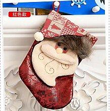 QQYAZHI Christbaumanhänger,2 Pcs Cute Xmas Sock