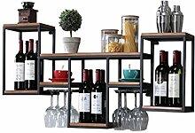 QRFDIAN Wand-Weinregal Dekoration Wein Glashalter