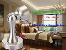 QRITY Magnetischer Türanschlag Türstopper, Boden / Wand Türstopper, Edelstahl, Installation ohne Bohren - 3M doppelseitiges Klebeband