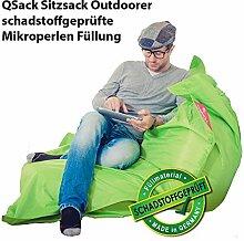 QSack Outdoor Sitzsack XXL, Toxproof Mikroperlen,