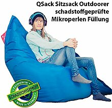 QSack Sitzsack Outdoorer mit Toxproof Mikroperlen
